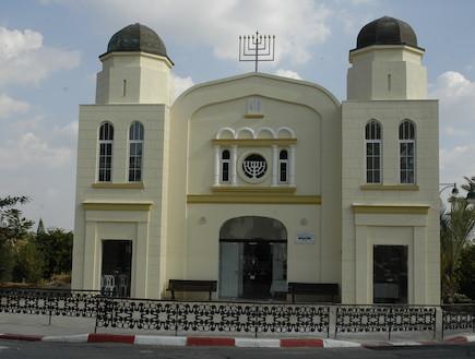 בית הכנסת הגדול מזכרת בתיה -מבט מבחוץ