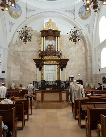 בית הכנסת החורבה - מבט מפנים