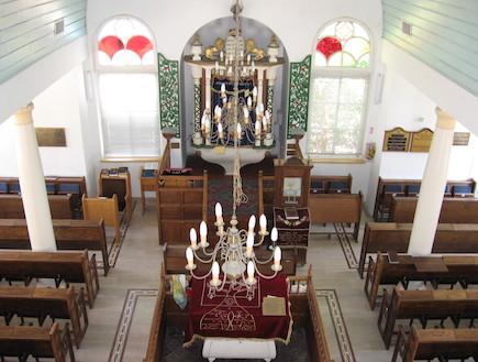 בית הכנסת הגדול מזזכרת בתיה -מבט מפנים
