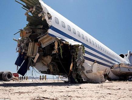 מטוס לאחר התרסקות