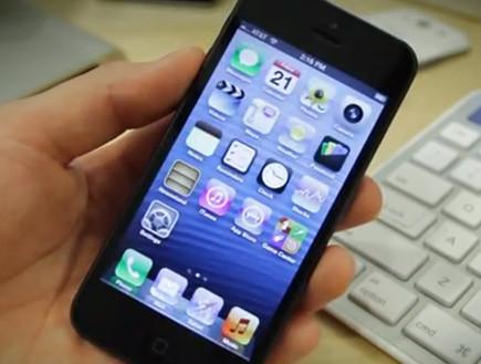 אייפון 5 (צילום: יוטיוב )