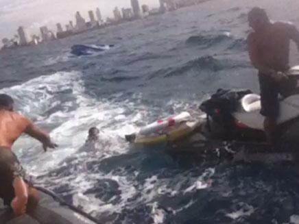 חילוץ הצוללנים, היום (צילום: משטרת ישראל)