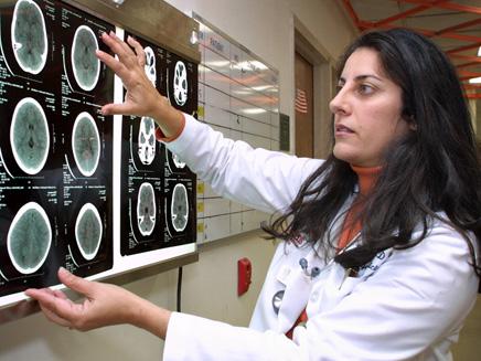 """סריקת המוח של ה""""צמח"""" (צילום: AP)"""