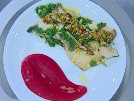 פילה בס עם ירקות(mako)