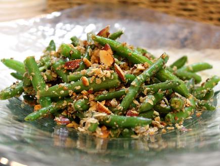 שעועית ירוקה מוקפצת (צילום: אסתי רותם ידידיה ,אוכל טוב)