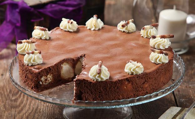 עוגת מוס שוקולד ממולאת פחזניות (צילום: בני גם זו לטובה ,אוכל טוב)
