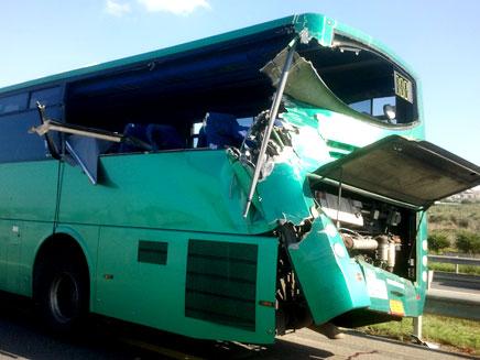 האוטובוס שנפגע, היום בזירת התאונה