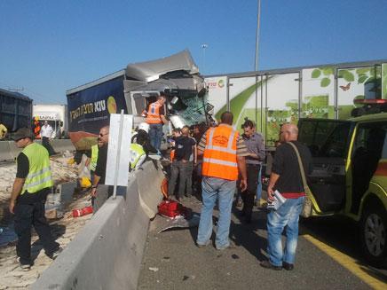 זירת התאונה השנייה