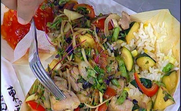 ירקות ופרגיות מוקפצים(mako)