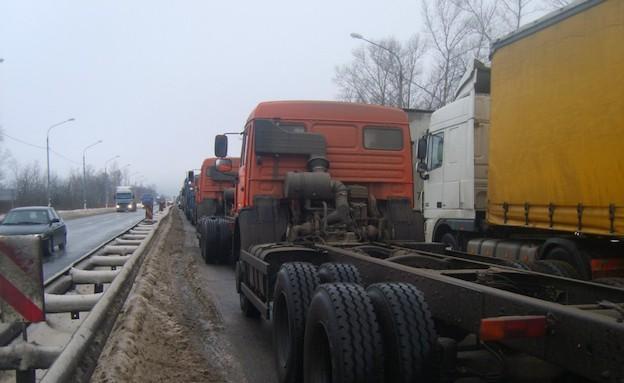 פקק ענק ברוסיה (צילום: englishrussia.com)