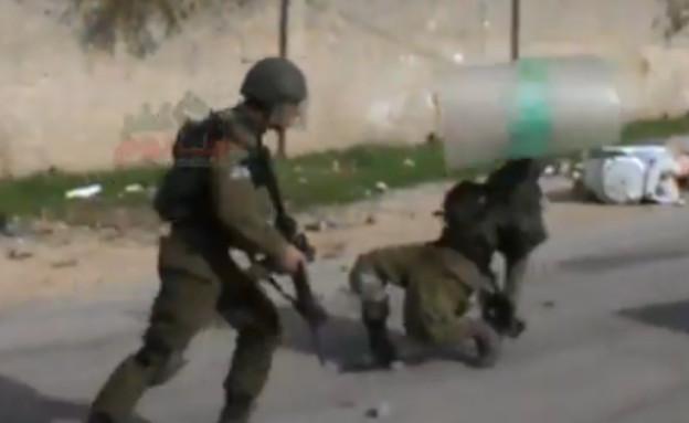 חיילים בהפרעת סדר (צילום: יוטיוב )
