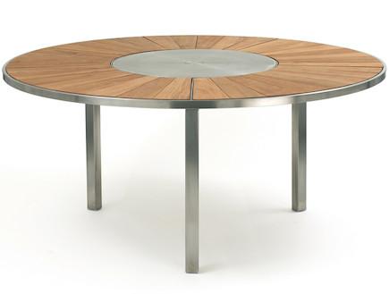 שולחן אוכל נירוסטה -פנטהאוז-רהיטים