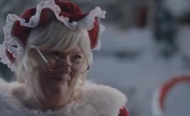 גברת סנטה קלאוס בפרסומת של סמסונג (צילום: יוטיוב )