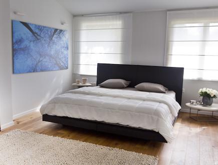 חדר שינה ותמונה (צילום: רינת שניידובר)