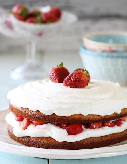 עוגת תותים וקצפת - אורך