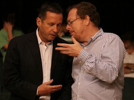 """בחיפה מכחישים הכל. ג'ף רוזן עם יו""""ר האיגוד, אבנר קופל"""