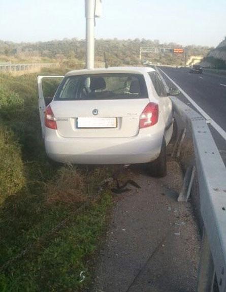 רכבו של הצעיר שנתפס (צילום: דוברת אגף התנועה)