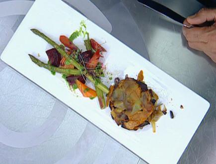 לביבות ירקות שורש ופטריות
