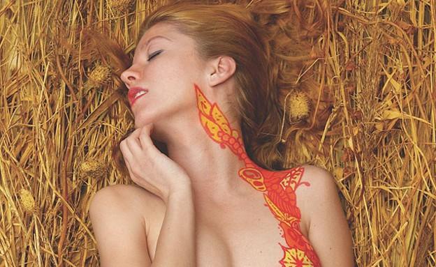 גרפיטי גוף (צילום: shriiimp.com)