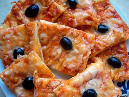 פיצה ללא שמרים של cooknbake