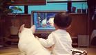 ילד וכלב - מול הטלוויזיה 2 (צילום: איה סקאי ,instagram)