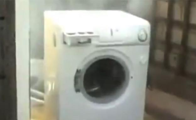מכונת כביסה עושה הארלם שייק  (צילום: יוטיוב )