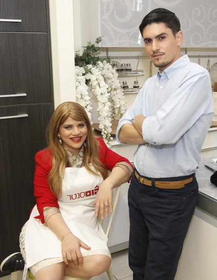 ג'קי אזולאי ובעלה בקמפיין הוםסנטר