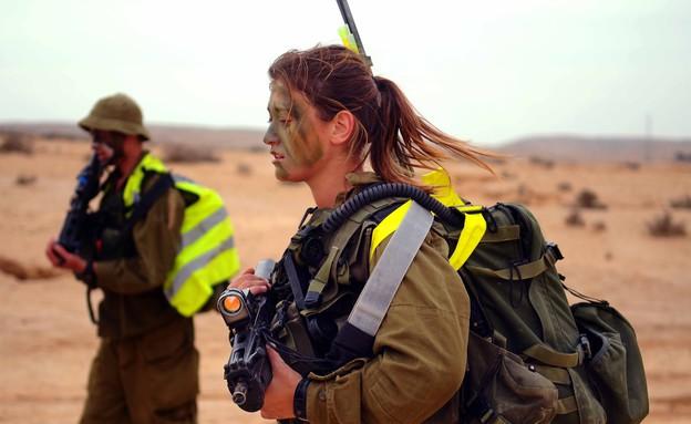 """לוחמת קרקל במסע כומתה (צילום: דובר צה""""ל)"""