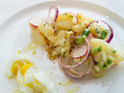 פסח, חיים כהן במטבח - סלט תפוחי אדמה (צילום: בני גם זו לטובה ,אוכל טוב)