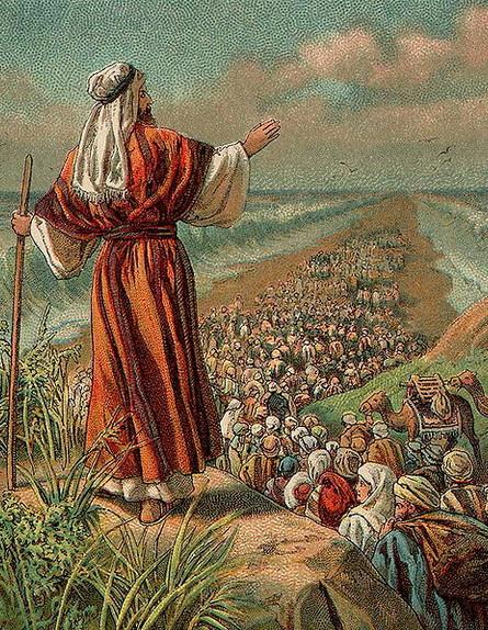 ציור מ-1907 המתאר את יציאת מצרים