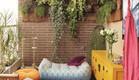 מרפסת, גינון, פופים (צילום: www.pintrest.com)