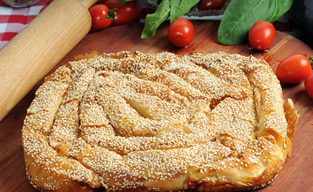 צ'וקור פילו במילוי גבינה ותרד טרי (צילום: יולה זובריצקי ,מאפה ליאון)