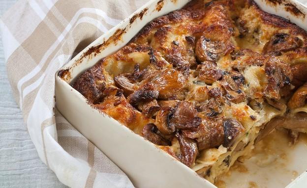 לזניה גבינות ופטריות (צילום: דניאל לילה ,תנובה)