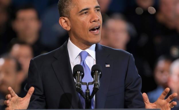 אובמה נואם (צילום: אימג'בנק/GettyImages)