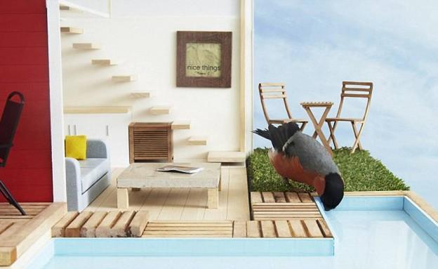 בית לציפור, מרפסת (צילום: Clas Ohlson)