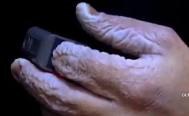 הידיים של טים יארו (תמונת AVI: יוטיוב  ,צילום מסך youtube)
