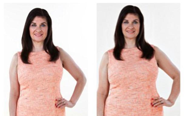 איך נשים חושבות שהן נראות (צילום: dailymail.co.uk ,dailymail.co.uk)