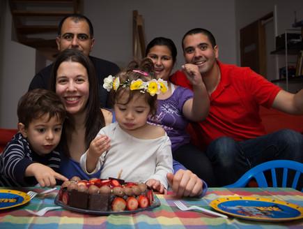 מיכל יושאי חוגגת יום הולדת עם משפחתה