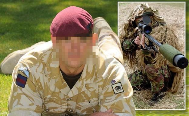 צלף בריטי שזהותו נחשפה (צילום: דיילי מייל)