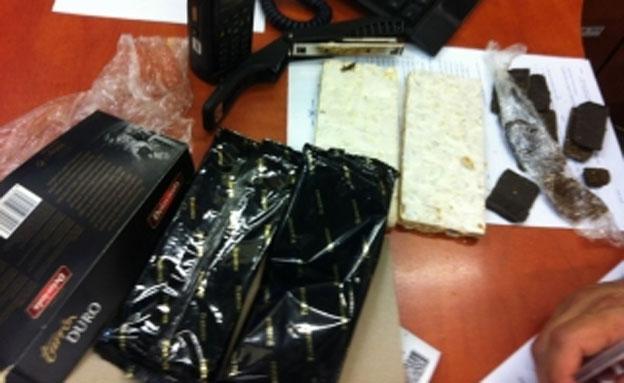 """הממתק הספרדי שנמצא (צילום: מכס נתב""""ג)"""