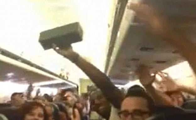הנוסעים בטיסה שקורקעה