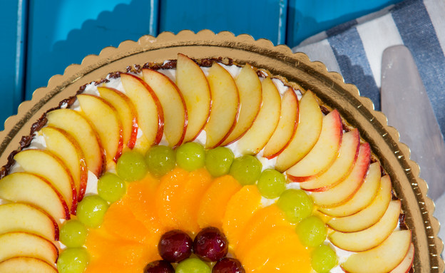 פאי פירות עם פודינג וניל (צילום: בני גם זו לטובה ,אוכל טוב)
