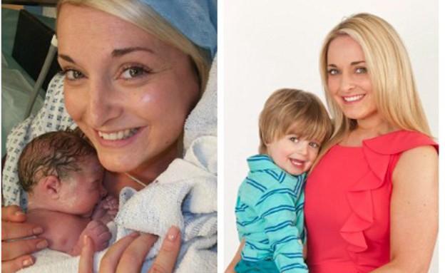 שעווה לפני הלידה - קייט האריסון (צילום: dailymail.co.uk ,dailymail.co.uk)