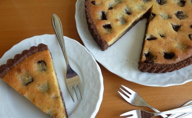 פאי קרם שקדים וטראפלס (צילום: מור כהן ,אוכל טוב)