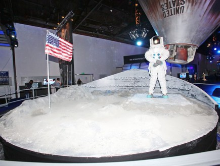 דגם הנחיתה על הירח, תערוכת החלל