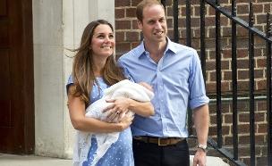 וויליאם, קייט והתינוק המלכותי (צילום: getty images ,getty images)