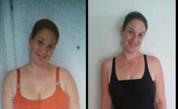 ניצן לפני ואחרי (צילום: תומר ושחר צלמים ,צילום ביתי)