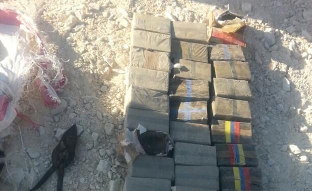 משלוח סמים מגבול ישראל מצרים (צילום: משמר הגבול)