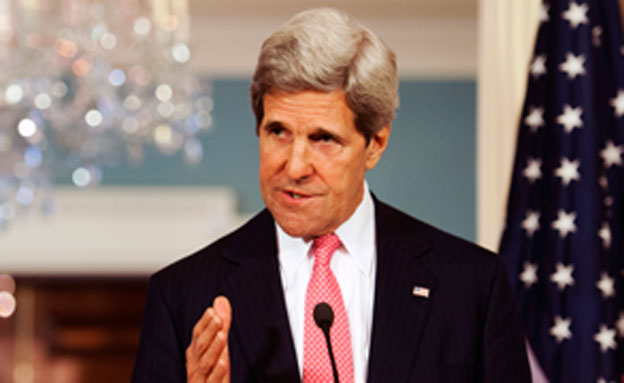 """ג'ון קרי, מזכיר המדינה המדינה, ארה""""ב (צילום: AP)"""