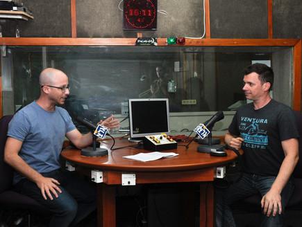 טייכר וזרחובית בתחנת הרדיו
